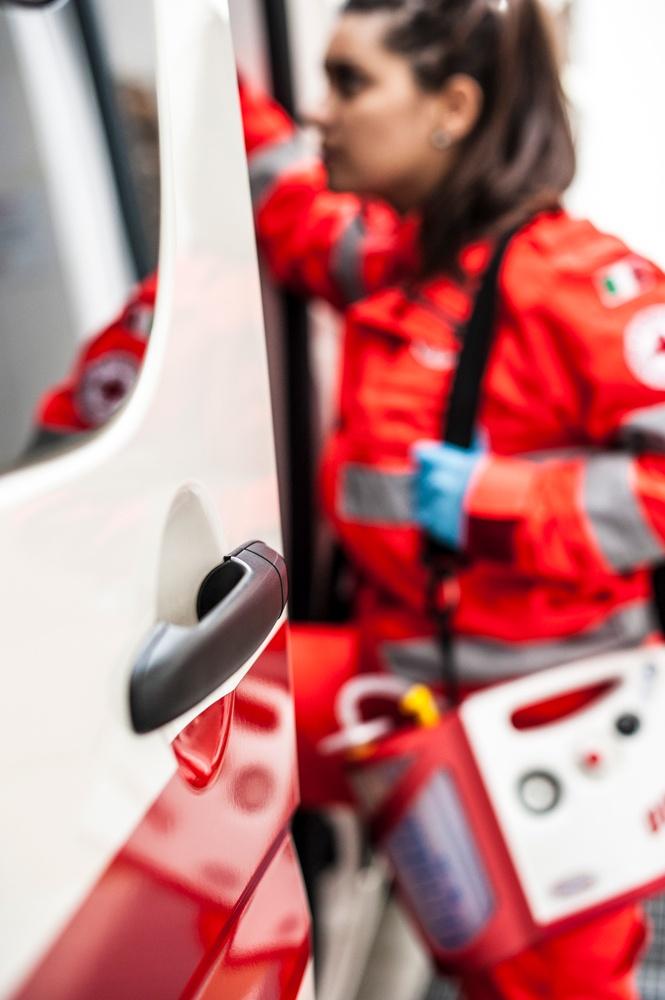 autista soccorritore in ambulanza